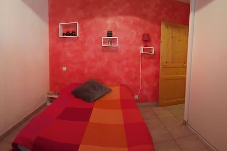 Chambre lit double - Le Vernet - Rumah