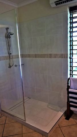 Newly installed shower