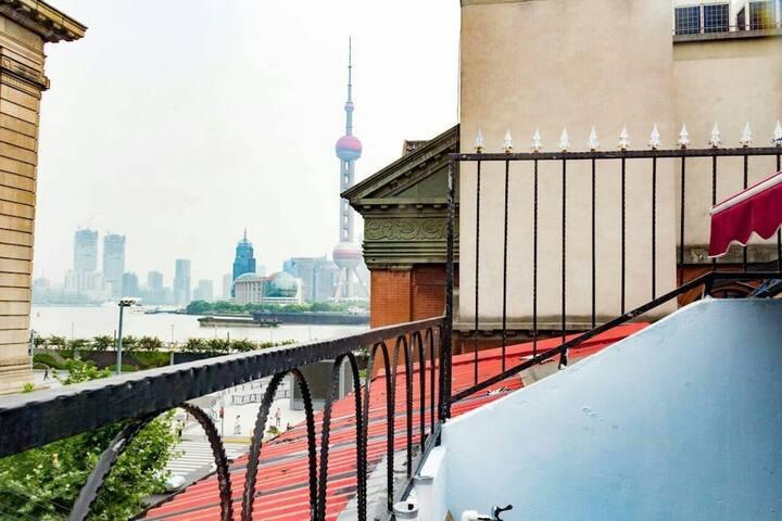 外滩零距离带无敌景观阳台/南京东路附近经典loft洋房 2/10号线直达,梦想改造家作品,