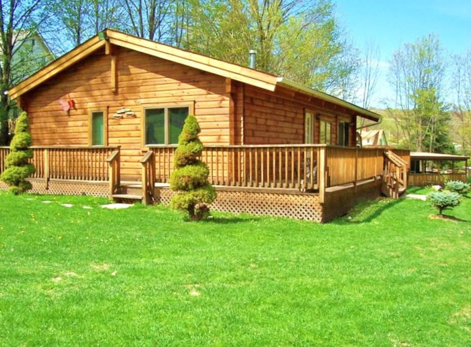 2 Bedroom Log Cabin Cabins For Rent In Liberty New York