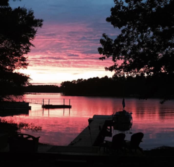 Beautiful Lake Murray Sunset View from our dock