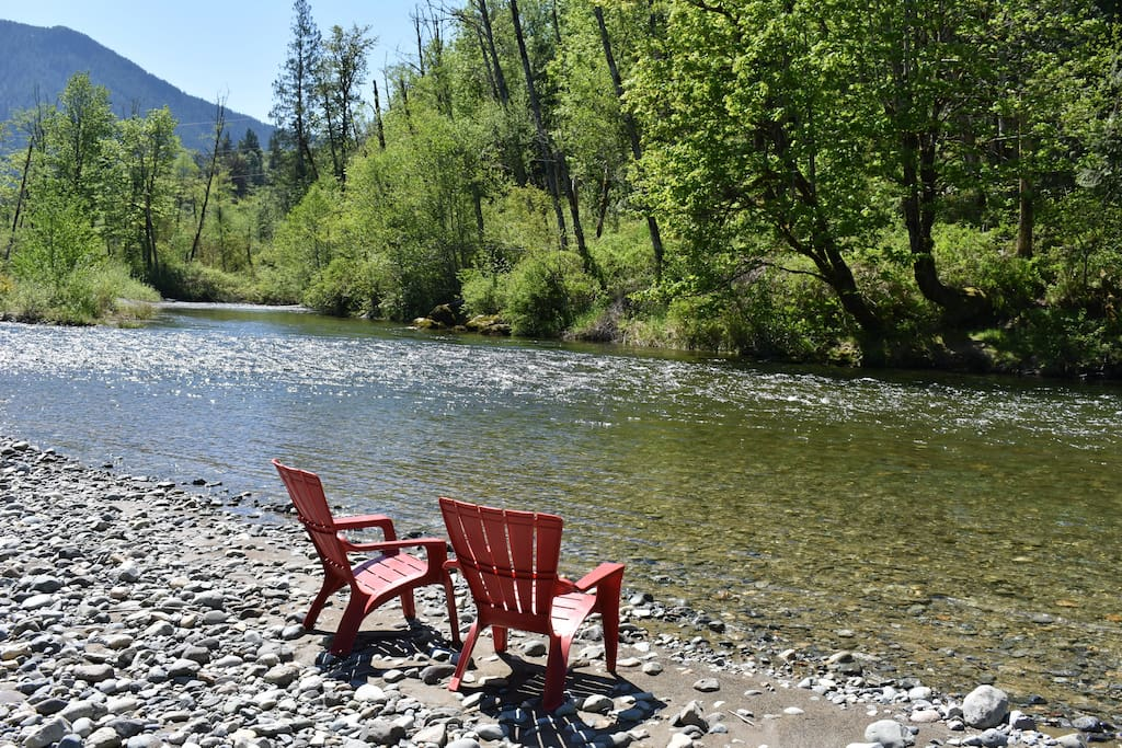 Fishing, rafting/floating, playing on beach, or watching the river go by...