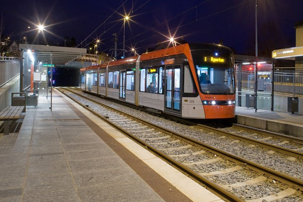 The light rail takes you to the city centre in 12 minutes