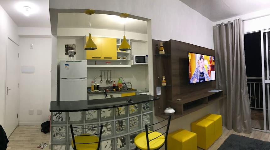 Lindo! Anexo ao shopping Maia, 15 min aeroporto - Guarulhos - Lägenhet