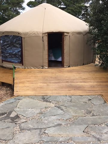 Entrance to the yurt