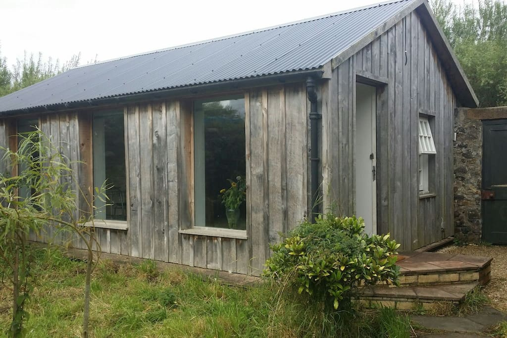 Your Airbnb space is in the north west corner of the walled garden converted from former potting shed.