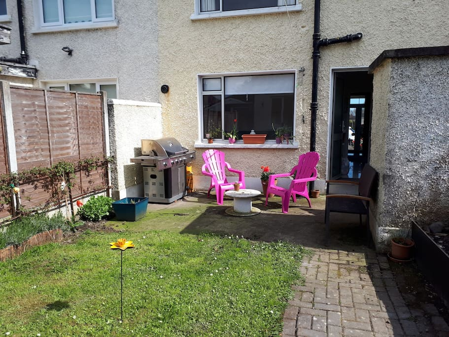 Private back garden with BBQ