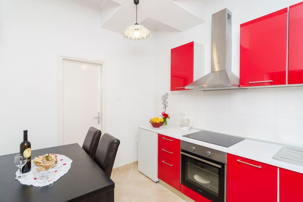 Kitchen, dining area