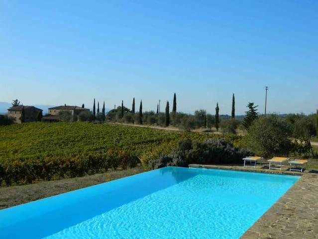 Stone-built farmhouse with pool and loggia - Lilliano - บ้าน