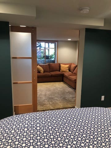 Spacious and private bedroom and living room