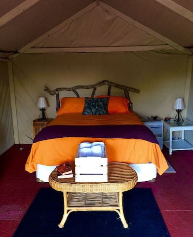 Riverfront Camo Glamping Tent