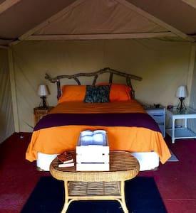 Riverfront Camo Glamping Tent - Umatilla