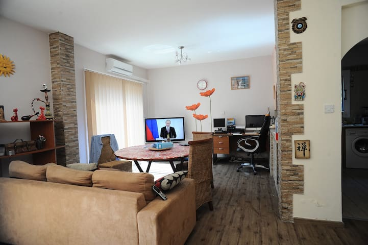 Excellent large apartment with the territory - Paphos - Hus