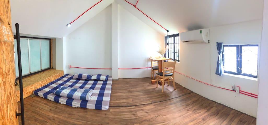 Attic Studio Room, Near the beach, Free parking