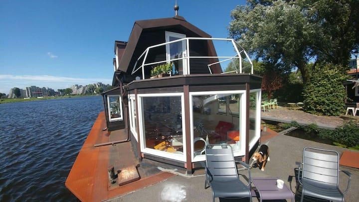 Woonboot/Houseboat/Hausboot in Haarlem