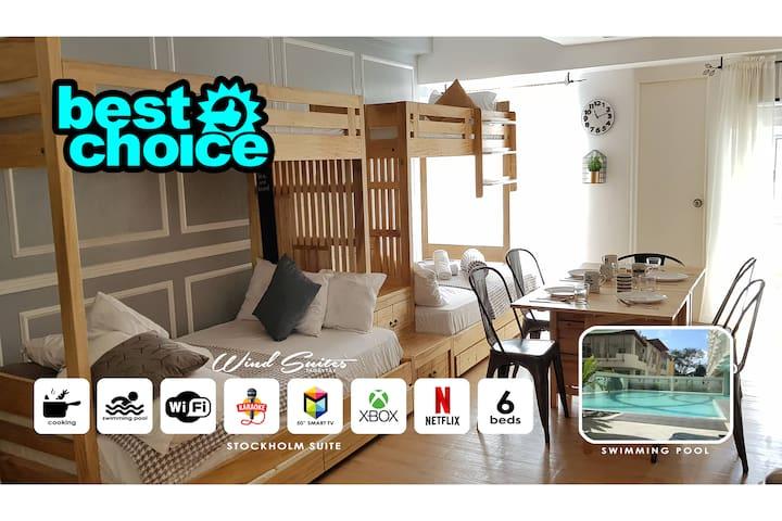 6 Beds Stockholm - xbox,netflix,videoke & pool