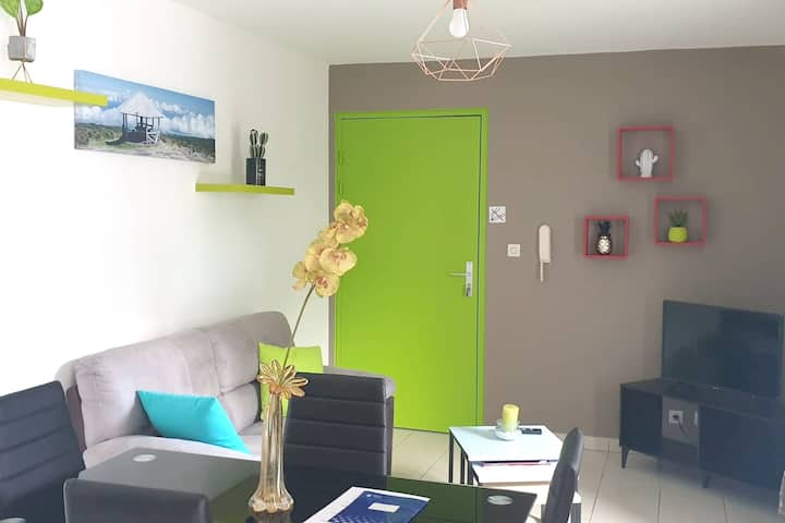 Apartment with one bedroom in Sainte-Marie, with furnished balcony and WiFi