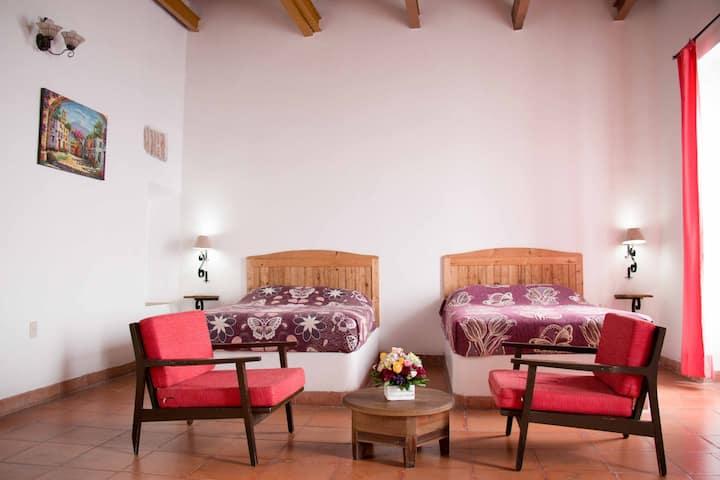 Habitación Familiar en Casona del Centro de Puebla