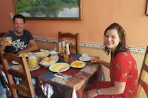 Guests in the breakfast