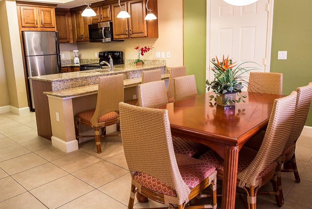 Dinner Table and Kitchen