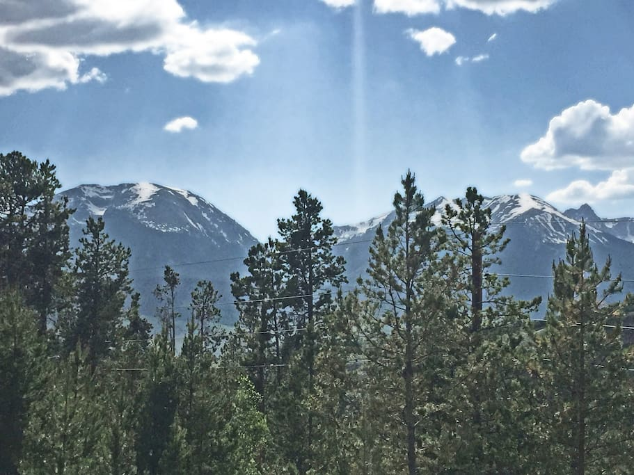 View of the Gore Range from the back yard.