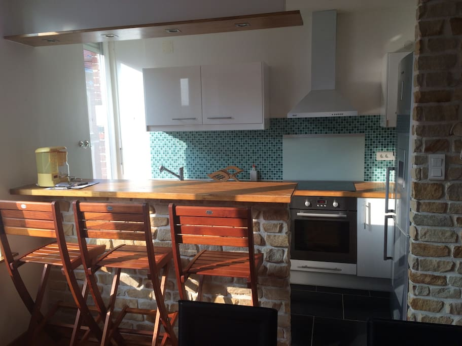Kitchenette with all equipment , oven , microwaves , toaster , coffee machines x2 , kettle , fridge