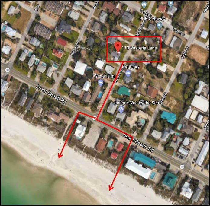 Use either public access 80 or 81 for an easy walk to beach.
