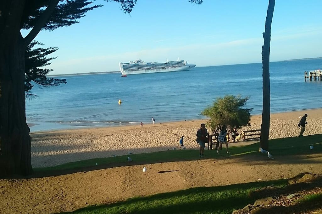Cruise ship visiting cowes