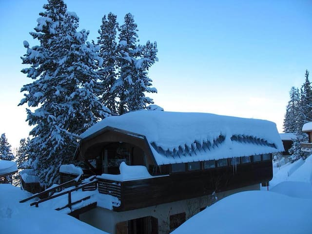 Beautiful chalet 200 meters easy walk to the piste