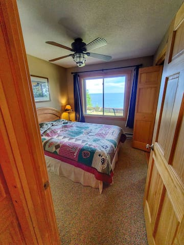 Fall asleep to the sound of Lake Superior's waves crashing on the shore below, and wake to views of the Lake.