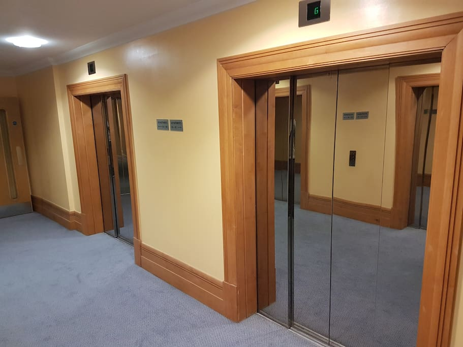 Lifts in lobby