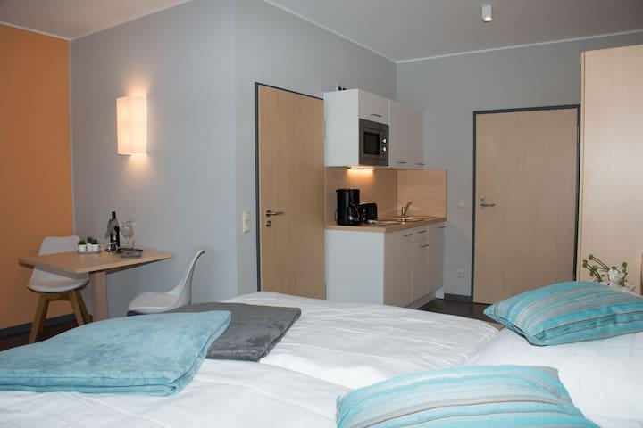 Riff Resort, (Bad Lausick), Große Ferienwohnung, 52qm, 1 Schlafzimmer, max. 4 Personen