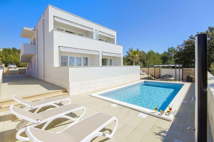 Villa, seaside in Vir - island Vir, Outdoor pool