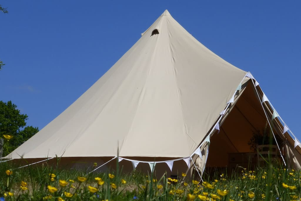 Glamorous camping at its best, set in a beautiful meadow