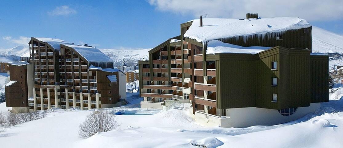Pied des pistes, 4* piscine ext chauffée Alpe Huez