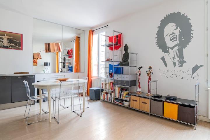 2 bedrooms flat for 6 guest Montparnasse