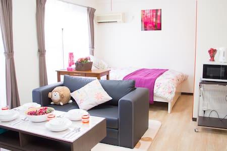 Luxury studio/2 bed/4min to station!!♪ - Hiroshima-shi - Huoneisto