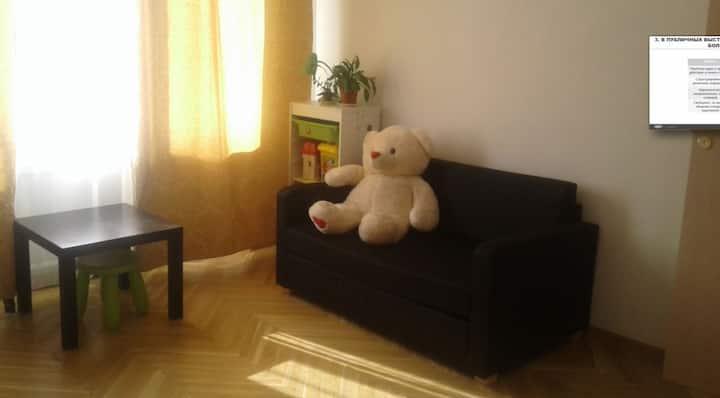 Светлая теплая уютная квартира почти в центре