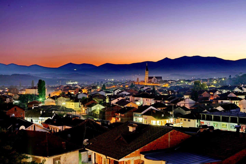 Gjakova in the evening
