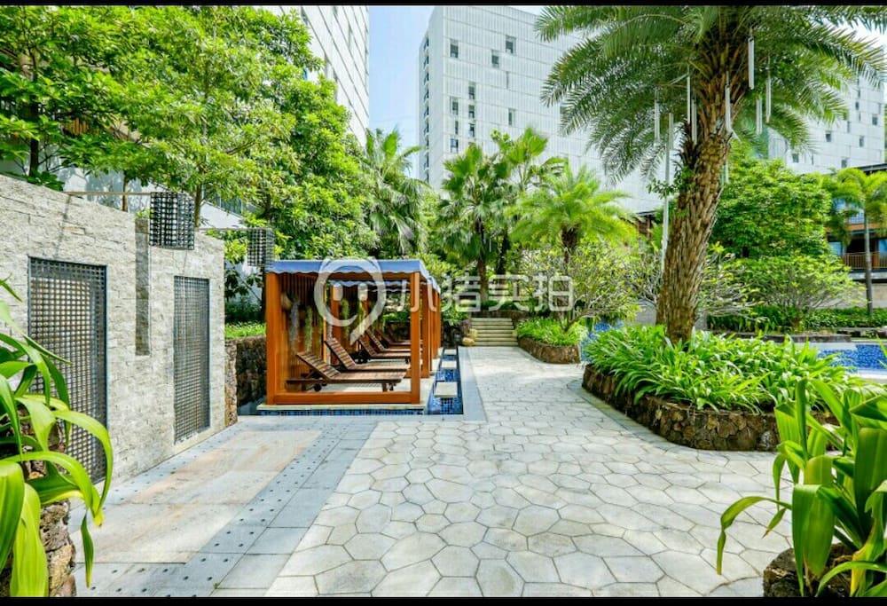 小区环境幽美,巴厘岛风情园林,曾获最佳设计
