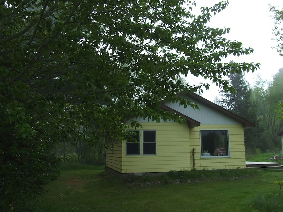 The Larson Cottage in a mid-June early morning mist.