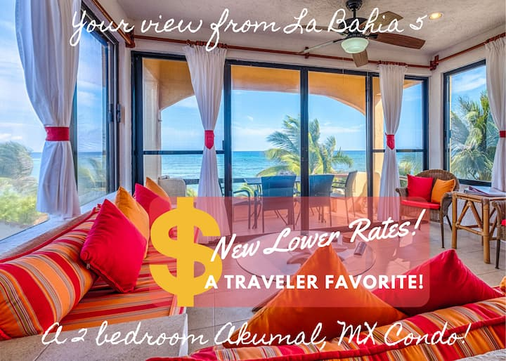Beachfront , Sunny with Sea Views, 2 BR La Bahia 5