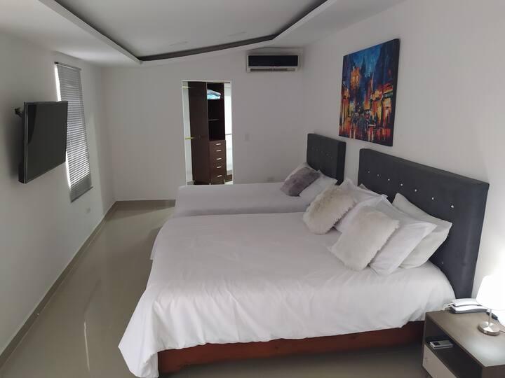 Apartamento Amoblado en Tuluá (A101, 1Hab, 2camas)