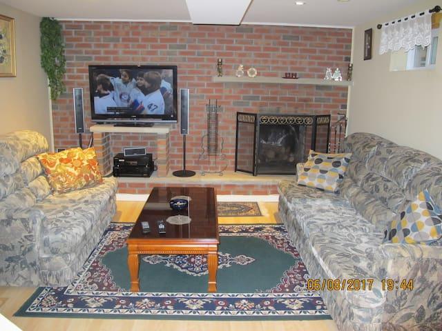 Quiet basement apartment with kitchen&bath