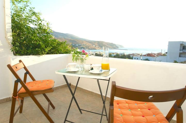 Cozy, peaceful studio with seaview - Andros - Wohnung