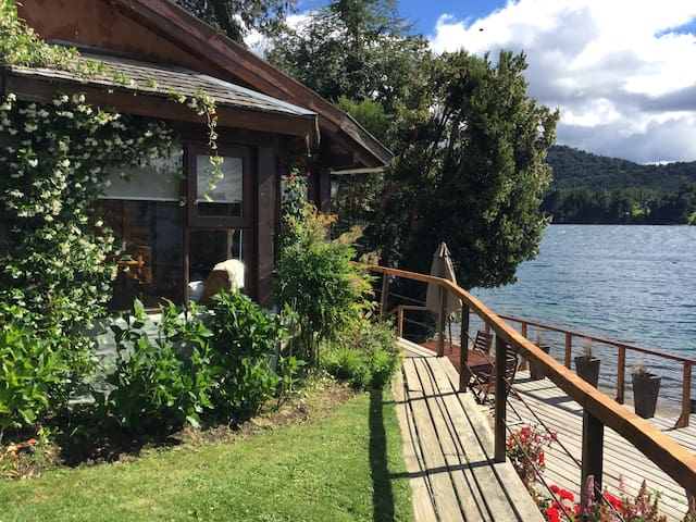 Cabin over the lake Quetrihue Bariloche Arrayan