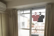 You can let the laundry dry on the balcony.