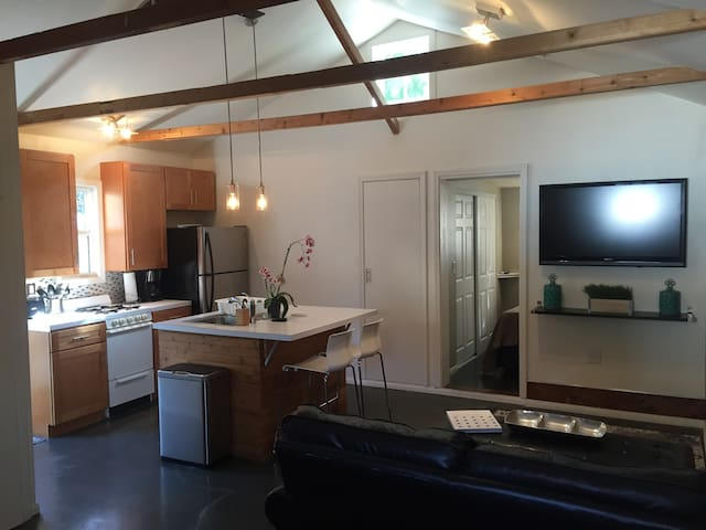 Ultra contemporary guest suite