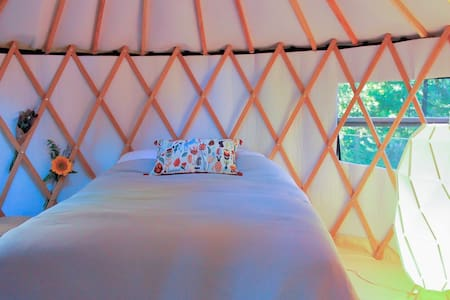 Enchanted Forest Yurt and Spa in the Sierras