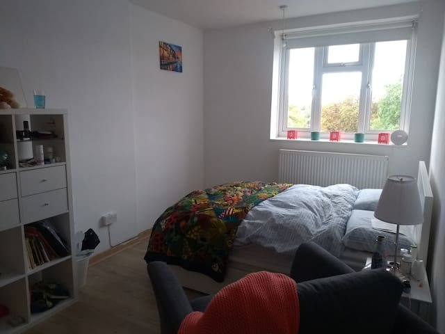 Spacious, light-filled bedroom in Stokey!